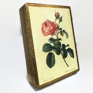 Pink Rose Florentine Jewelry Box